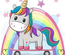 Cartoon cute unicorns vectors design 02