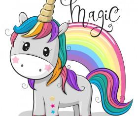 Cartoon cute unicorns vectors design 03