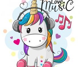 Cartoon cute unicorns vectors design 06