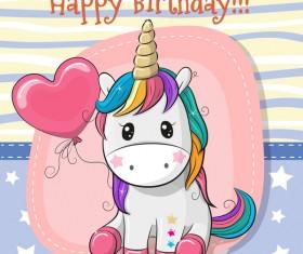 Cartoon cute unicorns vectors design 07