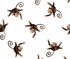 Cartoon monkeys seamless pattern vector 01
