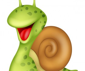 Cartoon snails vector