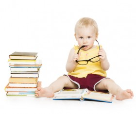 Children and books Stock Photo