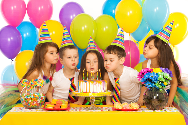 Childrens birthday party Stock Photo