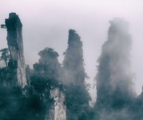 China Zhangjiajie Fantasy Scenery Stock Photo