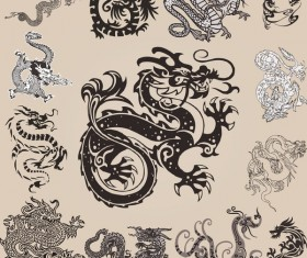 China dragon design vector