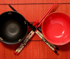Chinese style tableware Stock Photo