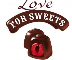 Chocolate sweet dessert vector illustration 01