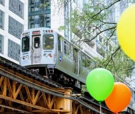 City Light Rail Stock Photo
