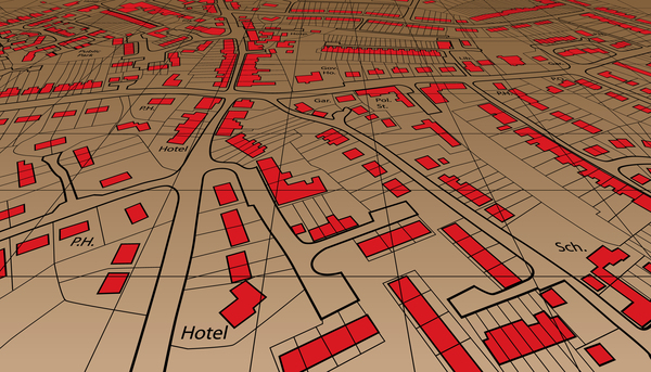 City housing map design vector 01