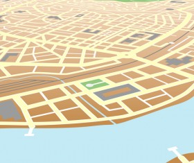 City housing map design vector 02