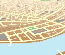 City housing map design vector 02