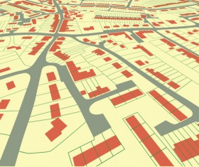 City housing map design vector 03