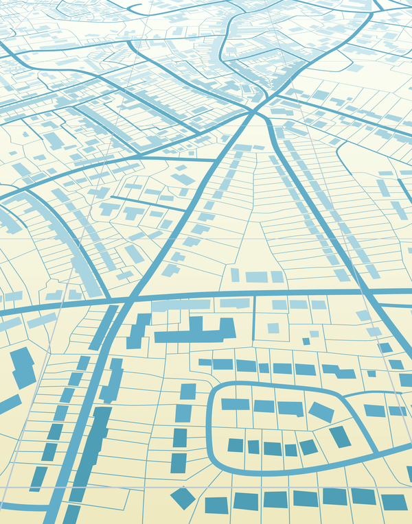 City housing map design vector 05