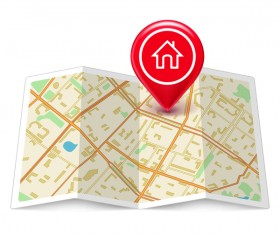 City map with navigation vectors 04