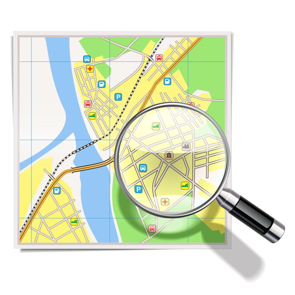 City map with navigation vectors 06