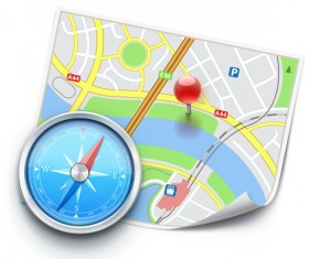 City map with navigation vectors 09