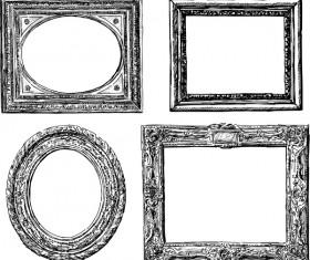 Classical photo frame design vectors 03