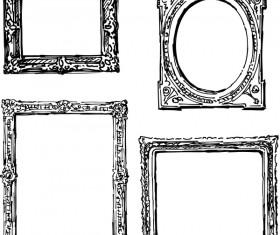 Classical photo frame design vectors 04