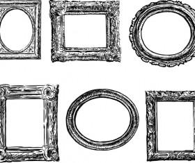 Classical photo frame design vectors 05