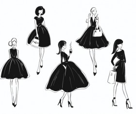 Classy fashion vector material