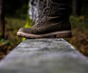 Closeup fashionable leather shoes Stock Photo