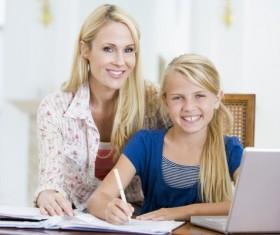 Coaching children to learn Stock Photo 02