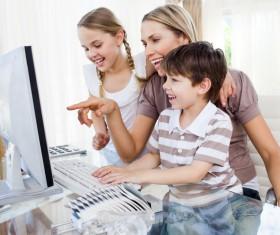 Coaching children to learn Stock Photo 04