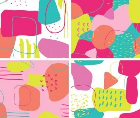 Color crush pattern vector material 01