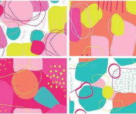Color crush pattern vector material 03