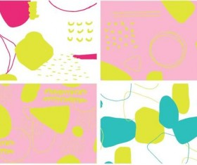 Color crush pattern vector material 04