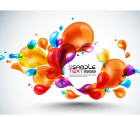 Colored bubble abstract background vector