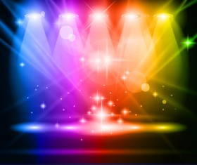 Colored magic spotlights effect vector 02