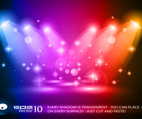 Colored magic spotlights effect vector 03