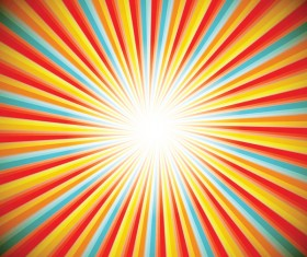Colored stripe rays background vector