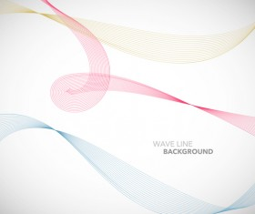 Colored wavy line background illustration vector