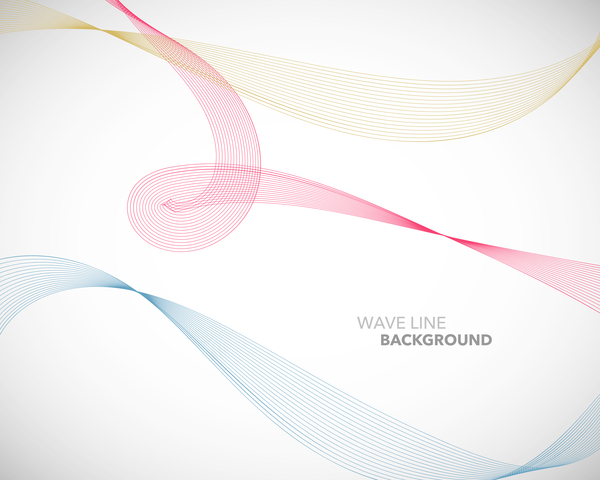 Line Design Images : Colored wavy line background illustration vector abstract