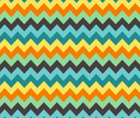 Colored zigzag seamless patterns vector 01