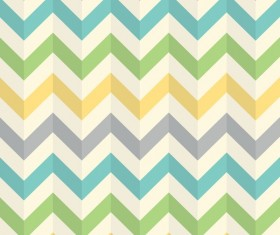 Colored zigzag seamless patterns vector 05