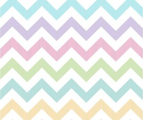 Colored zigzag seamless patterns vector 07