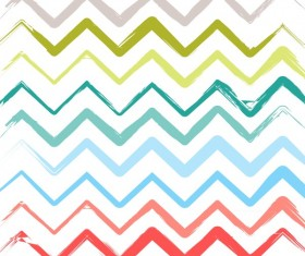 Colored zigzag seamless patterns vector 09