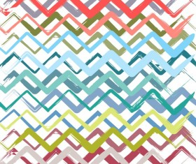 Colored zigzag seamless patterns vector 10