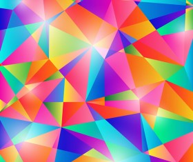 Colorful geometric polygonal background vector 01