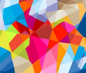 Colorful geometric polygonal background vector 02