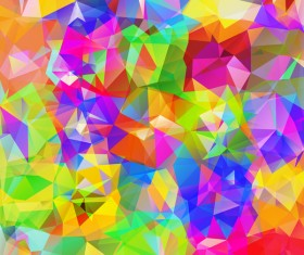 Colorful geometric polygonal background vector 03