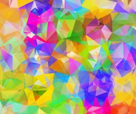 Colorful geometric polygonal background vector 04