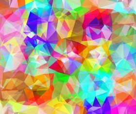 Colorful geometric polygonal background vector 05