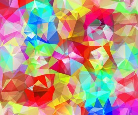 Colorful geometric polygonal background vector 06