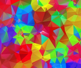 Colorful geometric polygonal background vector 07