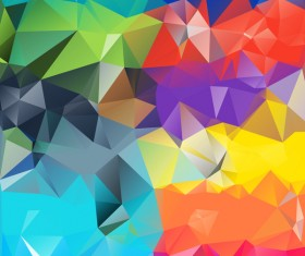 Colorful geometric polygonal background vector 08